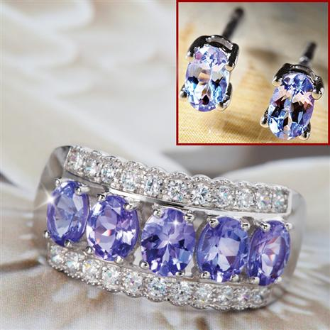 Karatu Ring & Tanzanite Stud Earrings