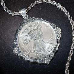 Liberty Coin Pendant & Chain Set