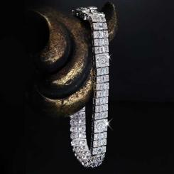 After Midnight Diamond<em>Aura</em>&reg; Art Deco Bracelet