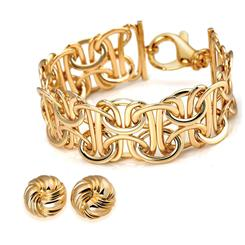 Arezzo Gold-finished Bracelet and Earring Set