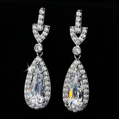 DiamondAura® French Tear Drop Earrings
