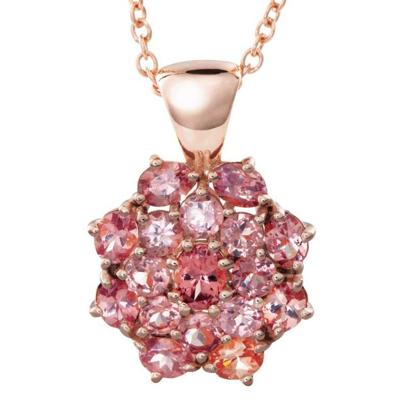 Rose Gold Vermeil Garnet Necklace