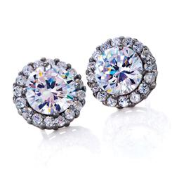 Diamond<em>Aura</em>&reg; Crown Earrings