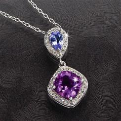 Tanzanite & Amethyst Anniversary Necklace