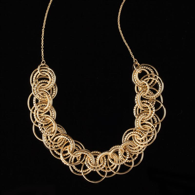14K Yellow Gold Golden Circle Necklace