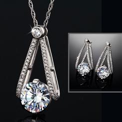 Contempo Pendant, Chain & Earrings Set