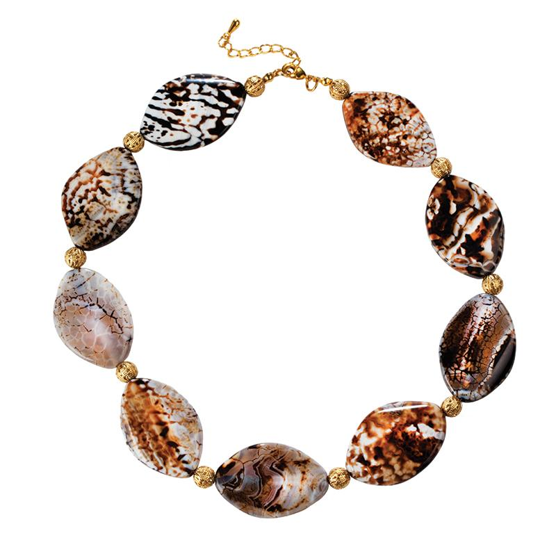 Abstract Agate Necklace