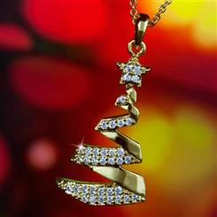 Joyful Christmas Tree Pendant