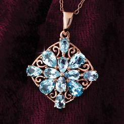 Blue Topaz Star Necklace