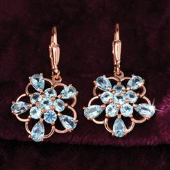 Blue Topaz Star Earrings