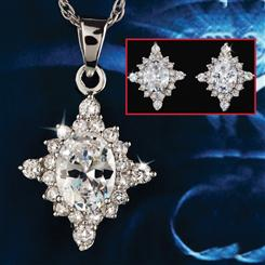 Polaris Diamond<em>Aura</em>&reg; Pendant, Chain and Earrings Set