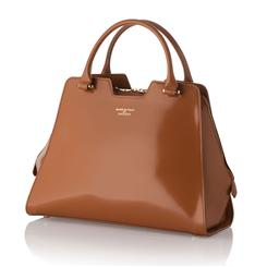 Valentina Italian Tan Leather Handbag