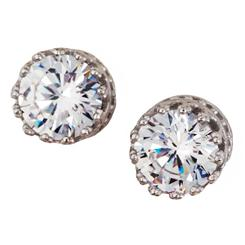 Diamond<em>Aura</em>&reg; Sterling Silver Stud Earrings