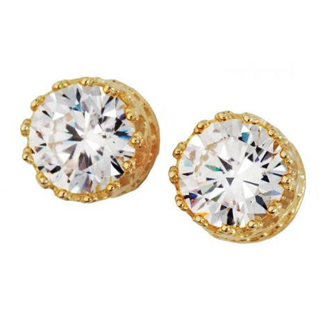 Diamondaura Yellow Gold Stud Earrings