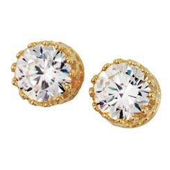 Diamond<em>Aura</em>&reg; Yellow Gold Stud Earrings
