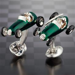 Deakin & Francis Green Racing Car Cufflinks