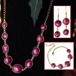 Romancing the Ruby Necklace, Bracelet & Earrings Set