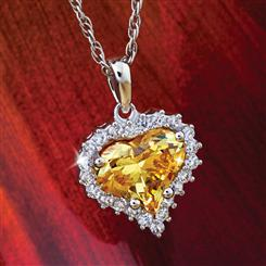 Heart of Gold Yellow Diamond<em>Aura</em>&reg; Pendant