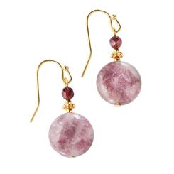 Tourmaline & Garnet Volta Earrings