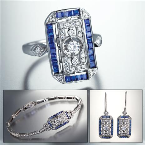 Art Deco Sapphire Collection