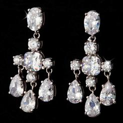 Chandelier Diamond<em>Aura</em>&reg; Platinum-finished Earrings