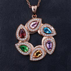 Wheel of Fortune Pendant & Chain
