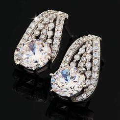 DiamondAura Cinderella Slipper Earrings