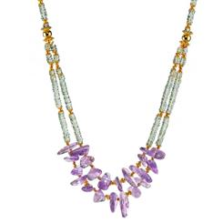 Dual Monarchy Amethyst Necklace