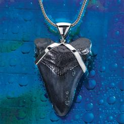 Giant White Shark Tooth Pendant
