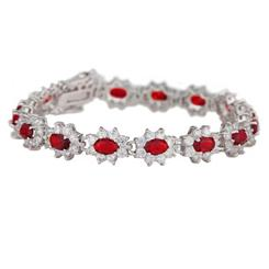 Diamond<em>Aura</em>&reg; Red Blossom Bracelet