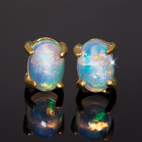 Five-Star Opal Anniversary Earrings