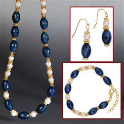 Blue Magic Necklace, Bracelet & Earrings Set