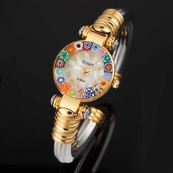 Petalo Murano Bangle Watch