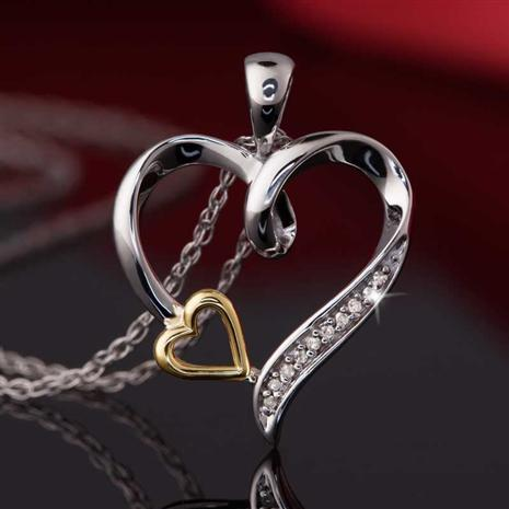 Little Heart of Gold Diamond Necklace