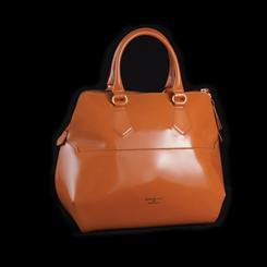 Aurora Italian Leather Handbag (Orange Marmalade)