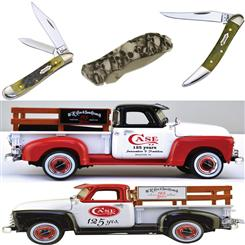 Ertl1950 Chevy Bullnose Pick-up & 125th Anniversary Collectible Case Knife Set