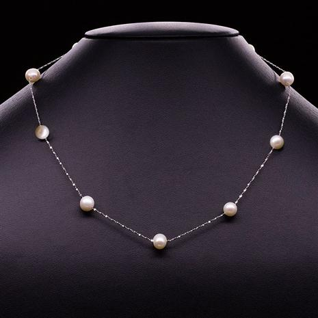 Pearls in Silver Necklace