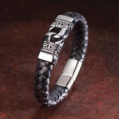 No Strings Mens Leather Bracelet