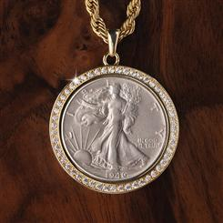 Walking Liberty Coin Pendant & Chain
