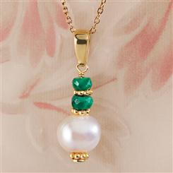Faceted Emerald Necklace