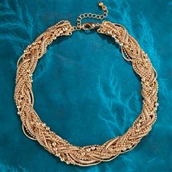 Chain Quintet Torsade Necklace