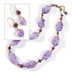 Chiarascuro Amethyst Collection Necklace & Earrings