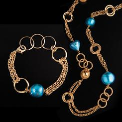 Bella Vita Murano Glass Collection Necklace & Bracelet