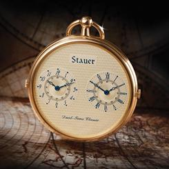 Travelers Dual-Time Pocket Watch