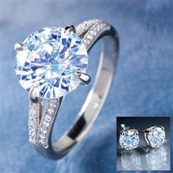 Diamond<em>Aura</em>&reg; Avalon Ring & FREE Stud Earrings