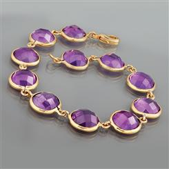 Royal Splendor Amethyst Bracelet