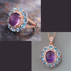 Amethyst & Blue Topaz Happiness Collection