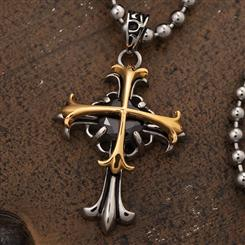 Onyx Celtic Cross Pendant & Necklace