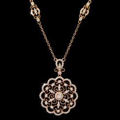 French Lace Medallion Necklace