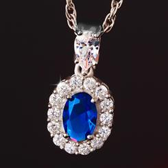 Blue Hope DiamondAura Pendant